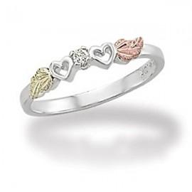 Black Hills Sterling Ezüst & 12K Arany Gyűrű Gyémánttal