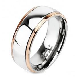 Titánium Karikagyűrű Aranyozott Széllel