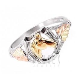 Black Hills Gold Ezüst és 12K Arany Lovas Gyűrű