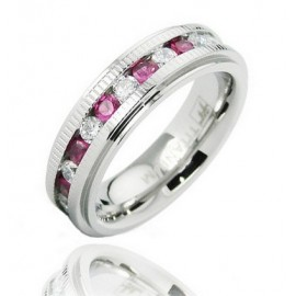 Titánium Karika Gyűrű Cirkónia Kövekkel