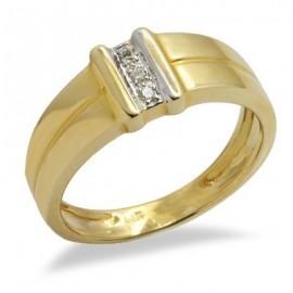 14K Sárga Arany Gyűrű Gyémánt Drágakövekkel