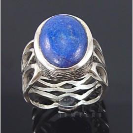 Sterling Ezüst Gyűrű Lápisz Drágakővel