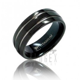 Fekete Titánium Karikagyűrű