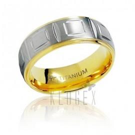 Aranyozott Titánium Karikagyűrű