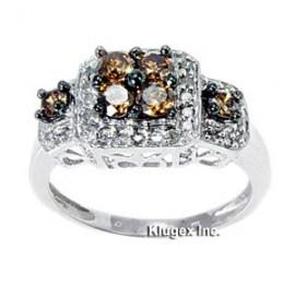 Arany Gyűrű 1ct Gyémánt Drágakővel