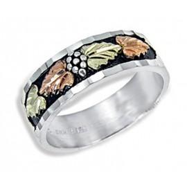 Ezüst és 12K Arany Férfi Eljegyzési Gyűrű
