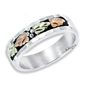 Ezüst és 12K Arany Női Eljegyzési Gyűrű