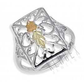 Sterling Ezüst és 12 Karátos Arany Gyűrű