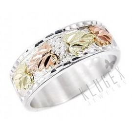 Black Hills Ezüst és 12K Arany Férfi Karikagyűrű