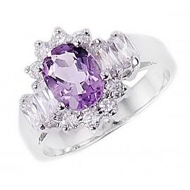 Ezüst Gyűrű Ametiszt Drágakővel