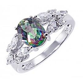 Ezüst Gyűrű Misztikus Topáz Drágakőve
