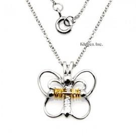 Ezüst Pillangó Medál Kívánságkarikákkal
