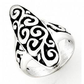 Ezüst Gyűrű Virág Mintával