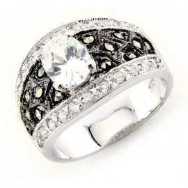 Ezüst Gyűrű Markazittal és Cirkóniával