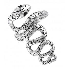 Ezüst Kígyó Gyűrű Fekete Szemmel