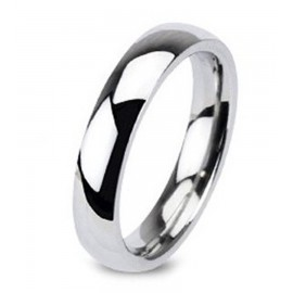 Klasszikus Nemesacél Karikagyűrű Hölgyeknek