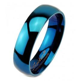Kék Volfrámacél Karikagyűrű