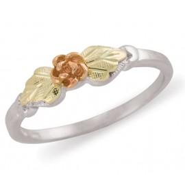 Black Hills Ezüst és 12 karátos Arany Rózsa Gyűrű