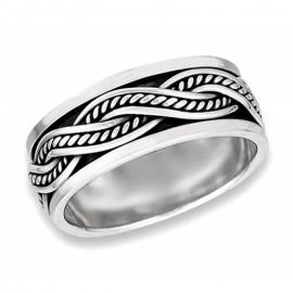 Ezüst Fonott Pörgethető Gyűrű