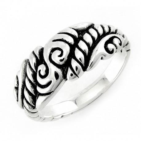 Bali Oxidált Ezüst Gyűrű
