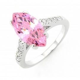 Ezüst Gyűrű Pink Cubic Cirkóniával