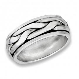Ezüst Unisex Pörgethető Gyűrű