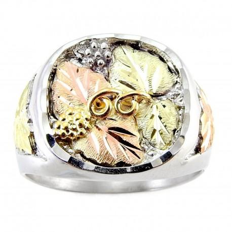 Black Hills 12K Arany és Ezüst Férfi Gyűrű