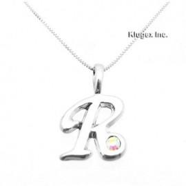 Ezüst Monogram Medál Lánccal – R