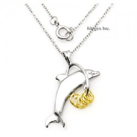 Ezüst Delfin Medál Kívánságkarikákkal