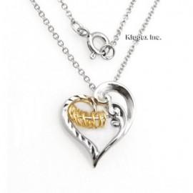 Ezüst Szív Medál Kívánságkarikákkal