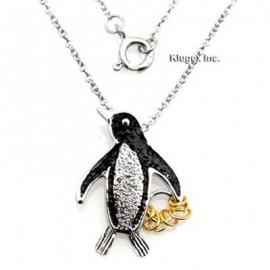 Ezüst Pingvin Medál Kívánságkarikákkal